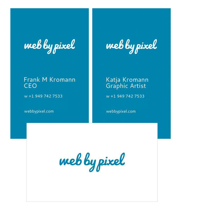 New business cards for Web by Pixel