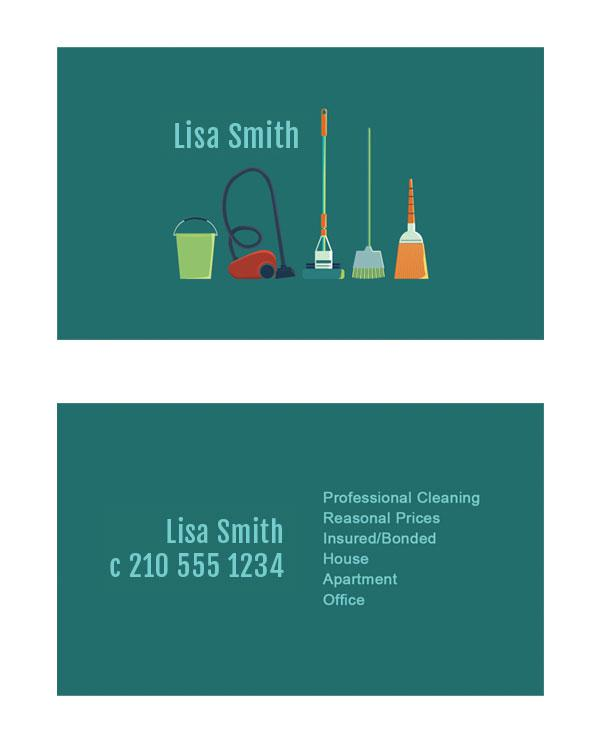 New business cards for a house keeper