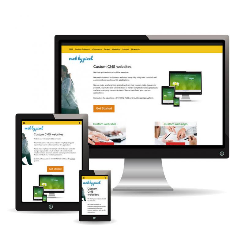 Web by Pixel's web site is responsive and BRAND NEW!