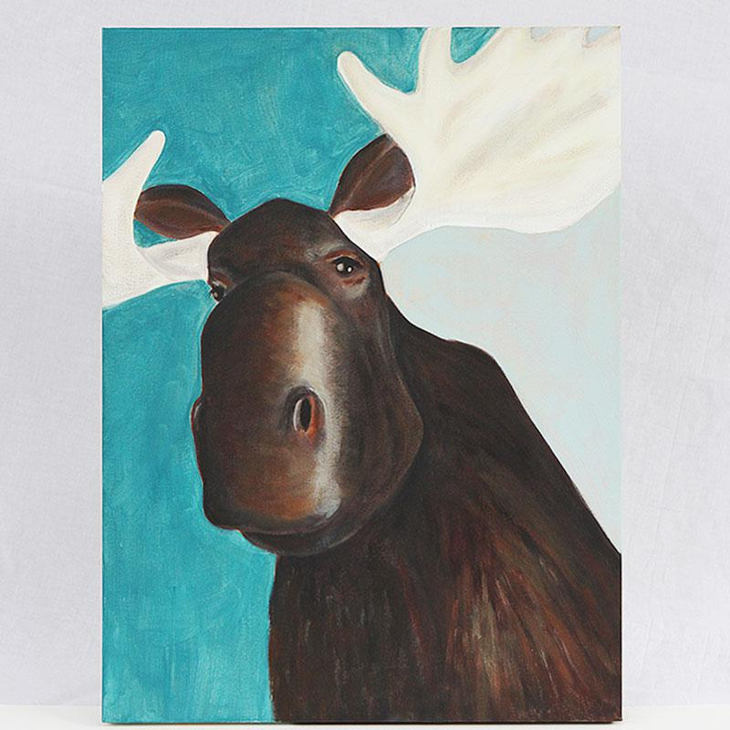 Garage moose / acrylic