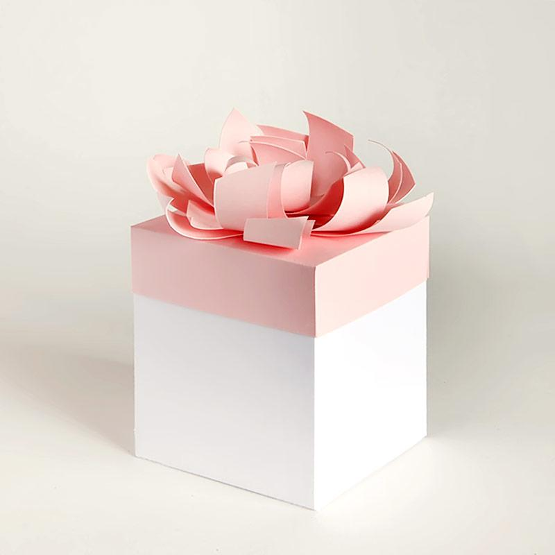 Gift card bow box