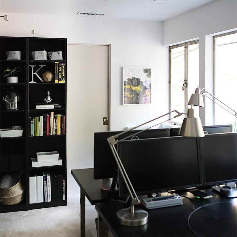 Home office reveal - bookcase install